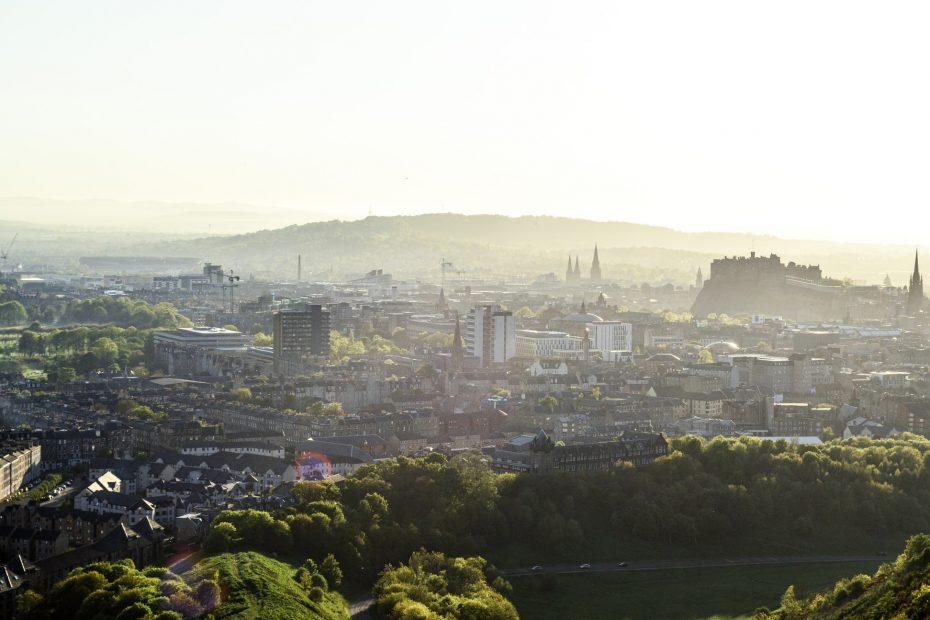 An early morning view of Edinburgh from Arthur's Seat